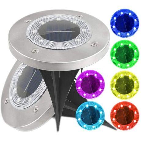 Lampki solarne 8 LED kolorowe - 6 kolorów