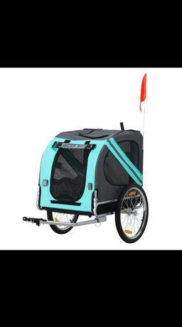 Przyczepka rowerowa dla psa, zielona
