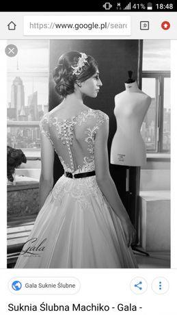 Gala machiko suknia ślubna koronka +muślin