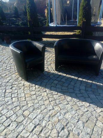 Sofa i fotel kolor czarny