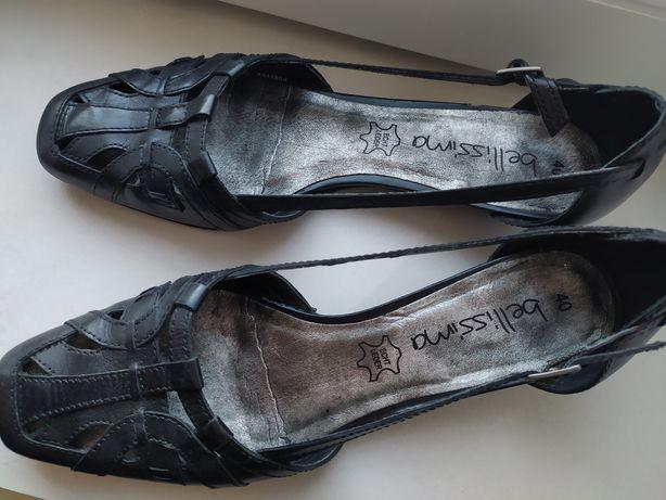 Skórzane pantofle, sandały Bellisima r.40, 26,5cm