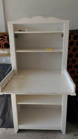 Trocador/muda fraldas + arrumos IKEA branco