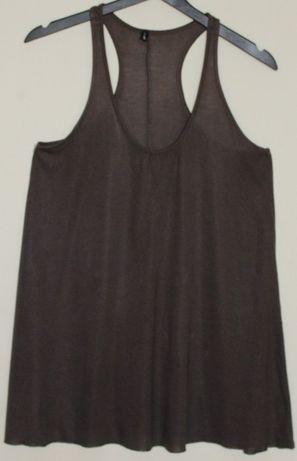 Bluzka długa damska brązowa rozmiar S