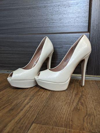Туфли белый перламутр (свадебные)