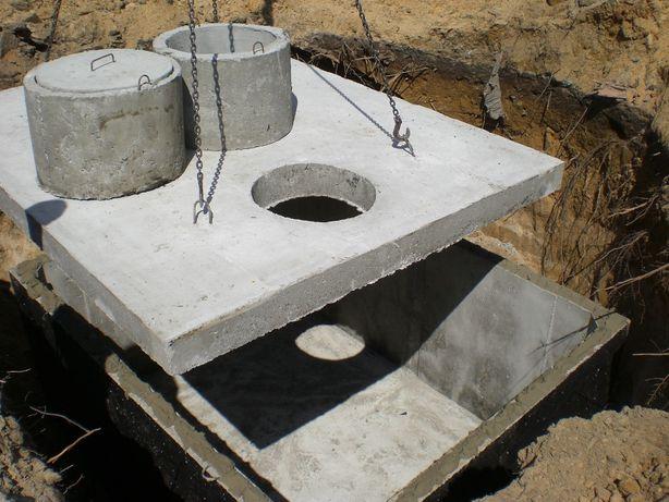 zbiornik betonowy szambo betonowe 4000 l 4m3 kompleksowo łódzkie