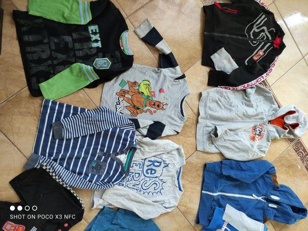 Ubranka, paka dla chłopaka 104/110/116 bluzy bluzki koszulki