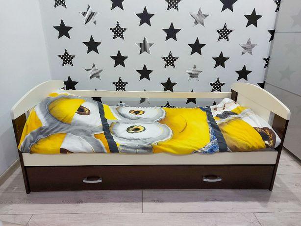 Łóżko dziecięce z szufladą i barierką 160x80 OKAZJA!