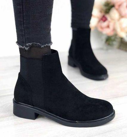 Ботинки челси черного цвета деми