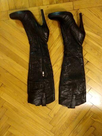 Сапоги ботфорты женские кожаные размер 37 осень- весна