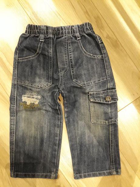Spodnie dzinsy jeansy rozm.4 ? 2-3 lata na oko