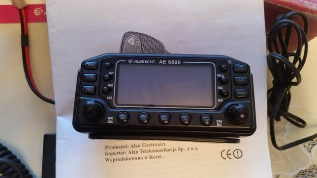 cb radio zdejmowany panel+ antena+głośnik+reflektometr