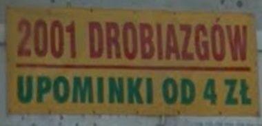 Baner Reklamowy 2001 Drobiazgów Upominki od 4 złotych