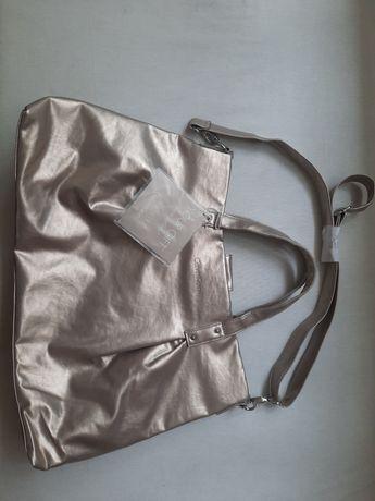 Złota torba Calvin Klein