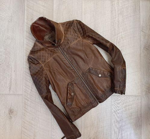 Кожанка Zara, косуха Зара, куртка кожаная