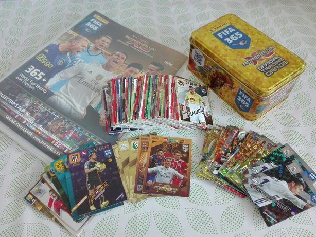 Karty kolekcjonerskie panini fifa 365, GRATIS puszka i album