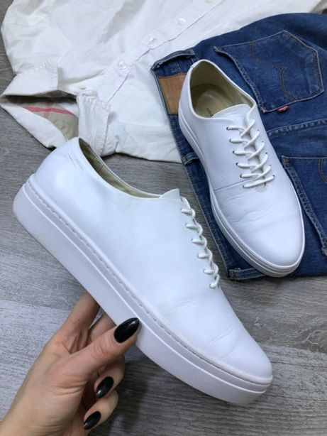 Кожаные белые кеды Vagabond