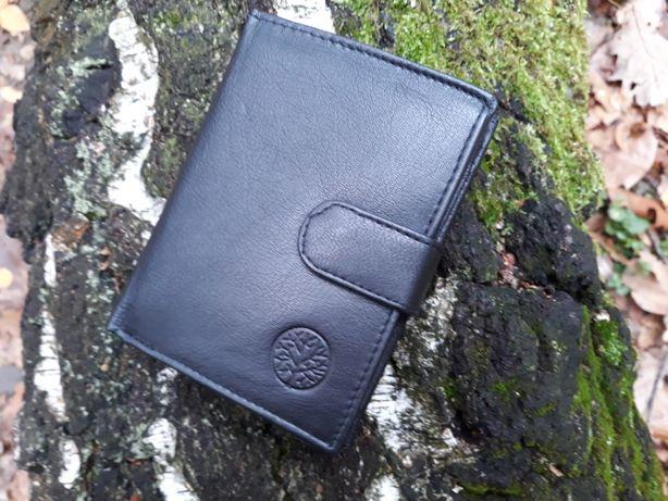 Skórzany portfel idealny na prezent. Nowy, pudełko Of Firmy