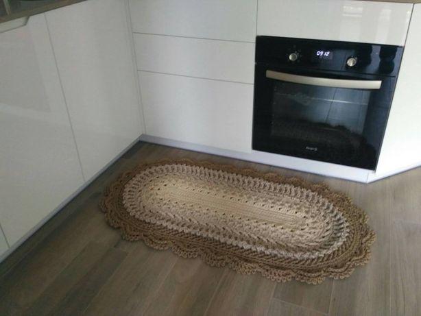 Вяжу ковры крючком из полиэфирного шнура