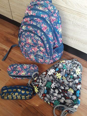 Plecak szkolny ST.REET z piórnikiem w komplecie i workiem