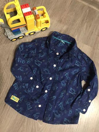 Крутая рубашка в динозаврах как next нарядная стильная модная