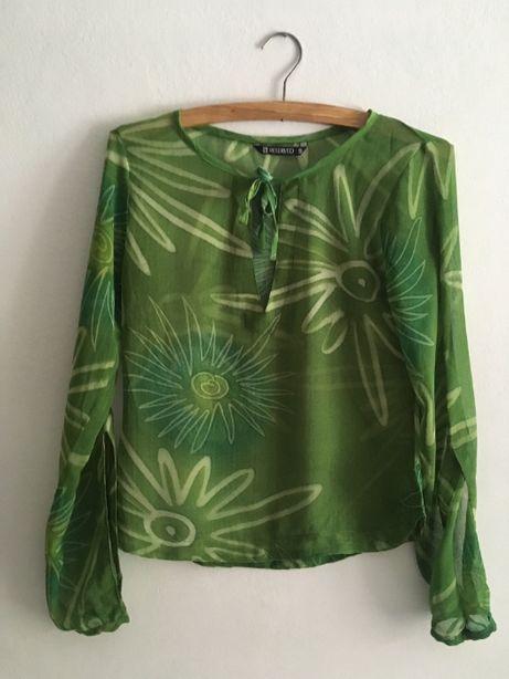 Zielona wzorzysta bluzeczka Reserved rozm. S