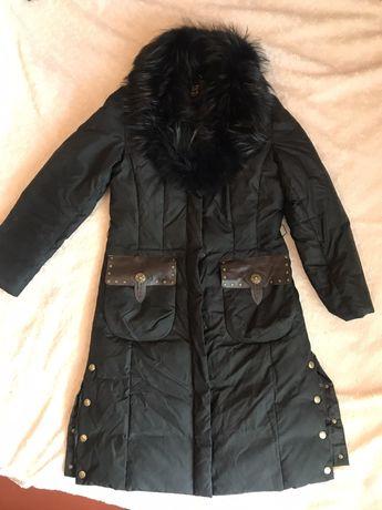 Женская зимняя куртка с воротником( натуральний пух)