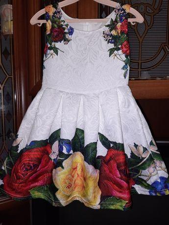 Нарядное платье, цветочный принт.