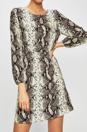 HAILY'S markowa Sukienka wzór wężowa skórka S 36 długi rękaw
