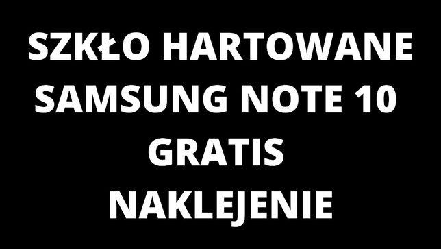 Szkło Hartowane Samsung Note 10 Gratis naklejenie