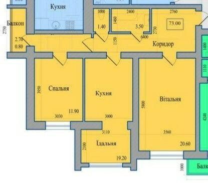 Продам велику 2х кімнатну квартиру, біля центру. Акційна пропозиція