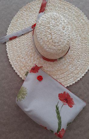 Chapéu de palha e bolsa - Novo