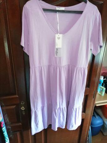 Vestido lilás tamanho único