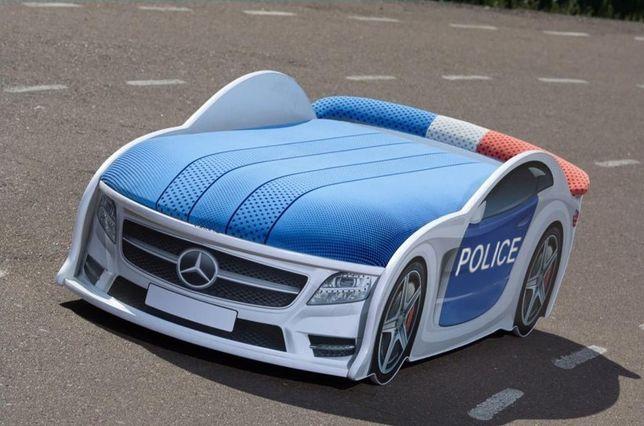 Удобная Кровать Машинка Диван, Мерседес Полиция, Бесплатная ДОСТАВКА
