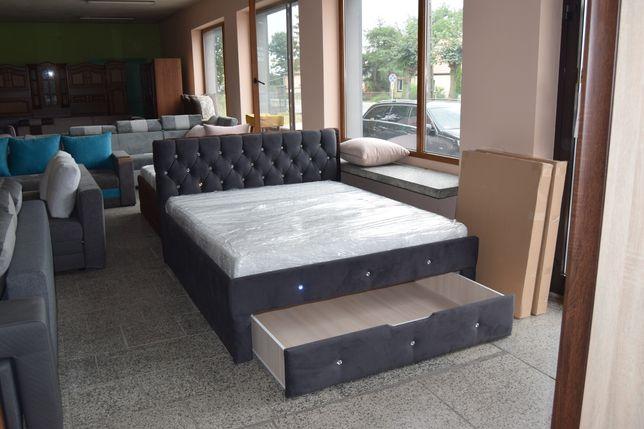 DOSTĘPNE OD ZARAZ Łóżko sypialniane tapicerowane 160x200 Producent