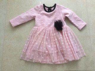 Sukienka z tiulowym dołem dla dziewczynki rozm. 74\86.