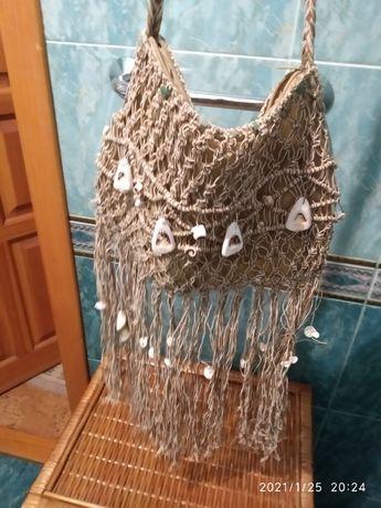 Сумочка летняя плетеная