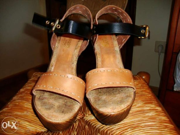 Sandálias Castanhas, Pretas, Camel