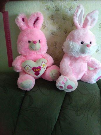 Мягкие игрушки, мягкие зайцы, зайчик мягкий, подарок для девочки