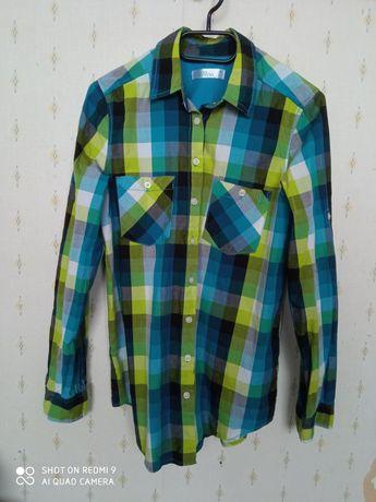 Koszula w kratkę zielona CROPP M