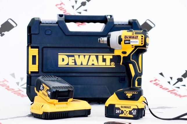 Мощный аккумуляторный гайковерт DEWALT 24v (Brushless) безщеточный
