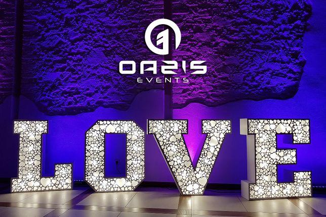 Wyjątkowy napis LOVE na twoje wesele Lubin Legnica Polkowice Głogów