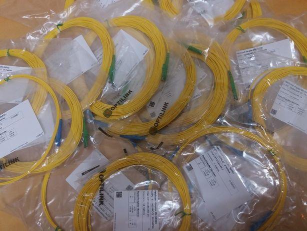 Patch de fibra óptica LC/PC - E2000/APC C/ 14m e LC/PC - LC/PC C/ 2m
