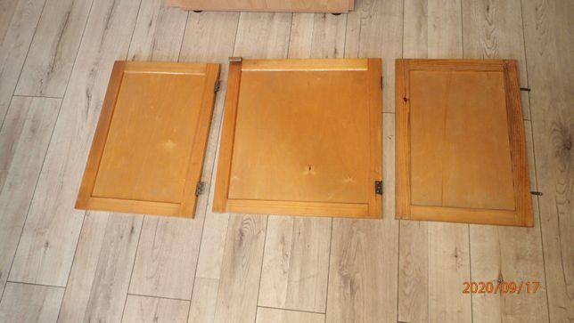 fronty szafek drewniane + sklejka - dostępne 11 sztuk