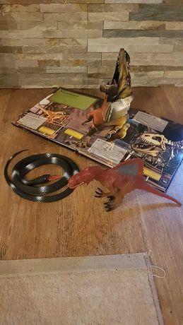 Zwierzątka gumowe, wąż, dinozaur