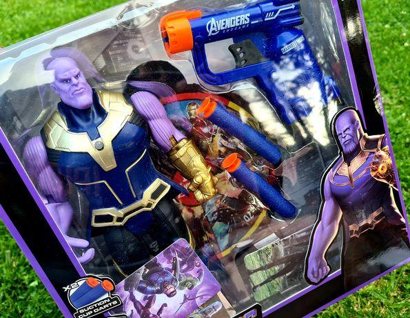 Nowe Zabawki Thanos + pistolet strzałki piankowe + tarcza