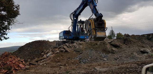 Rozbiórki wyburzenia domów hal magazynów kucie kruszenie betonu żelbet