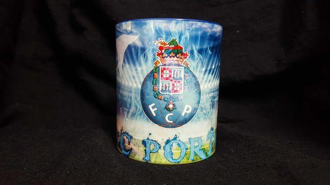Caneca em cerâmica branca e azul Futebol Clube do Porto