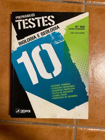 Livro preparar os testes, de biologia e geologia