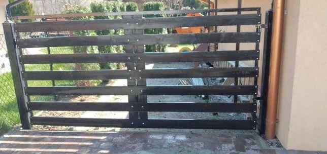 Brama wjazdowa  na budowę lub posesję