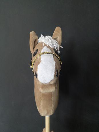 Hobby horse izabelowaty z dużą odmianka oglowie wodze halter kantar